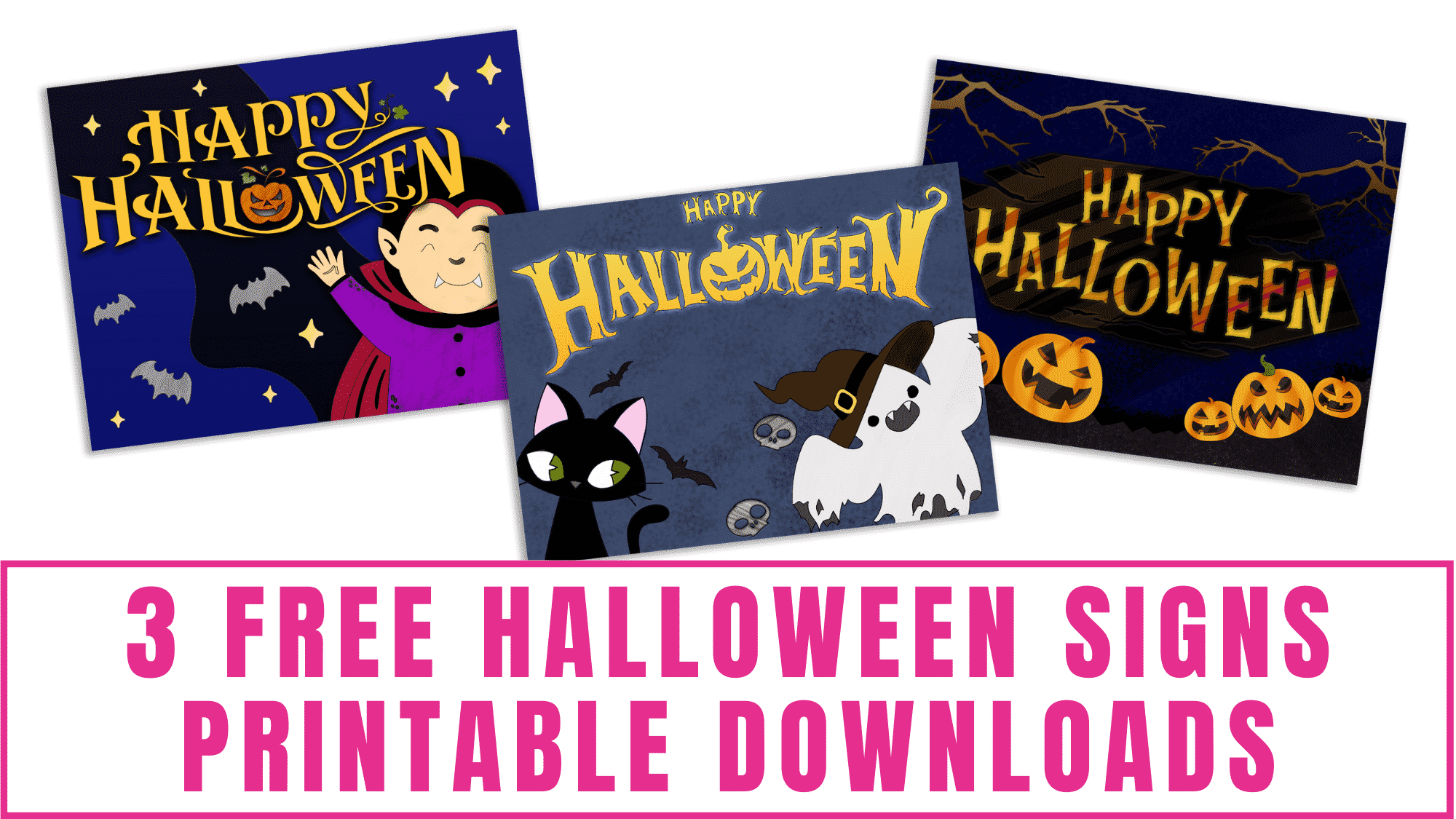 Is your home ready for Halloween? If not you are in luck because these free Halloween signs printable downloads can help you get your home holiday ready on a budget.
