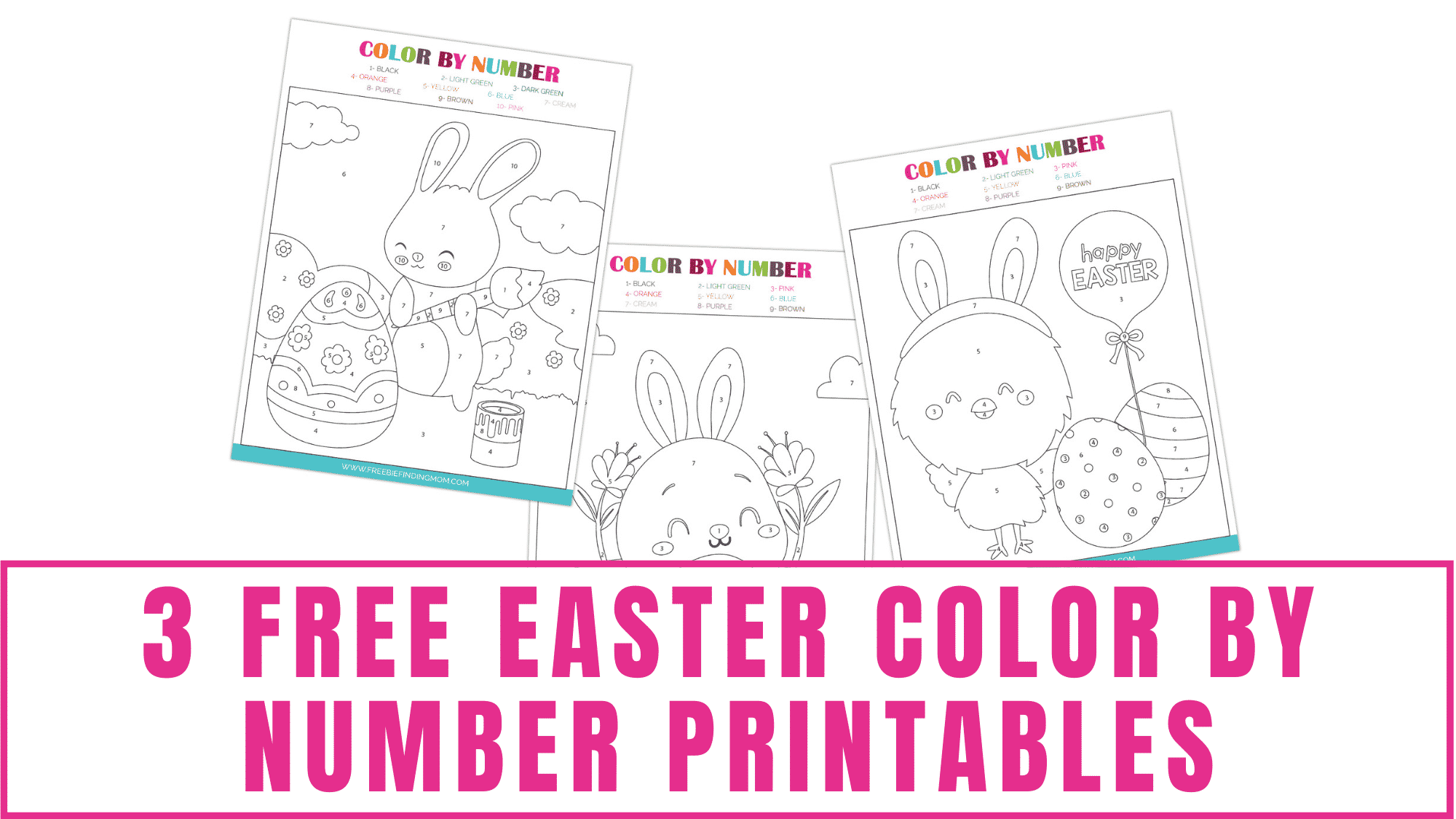 It doesn't have to be Easter or even spring to enjoy these free Easter color by number printables.
