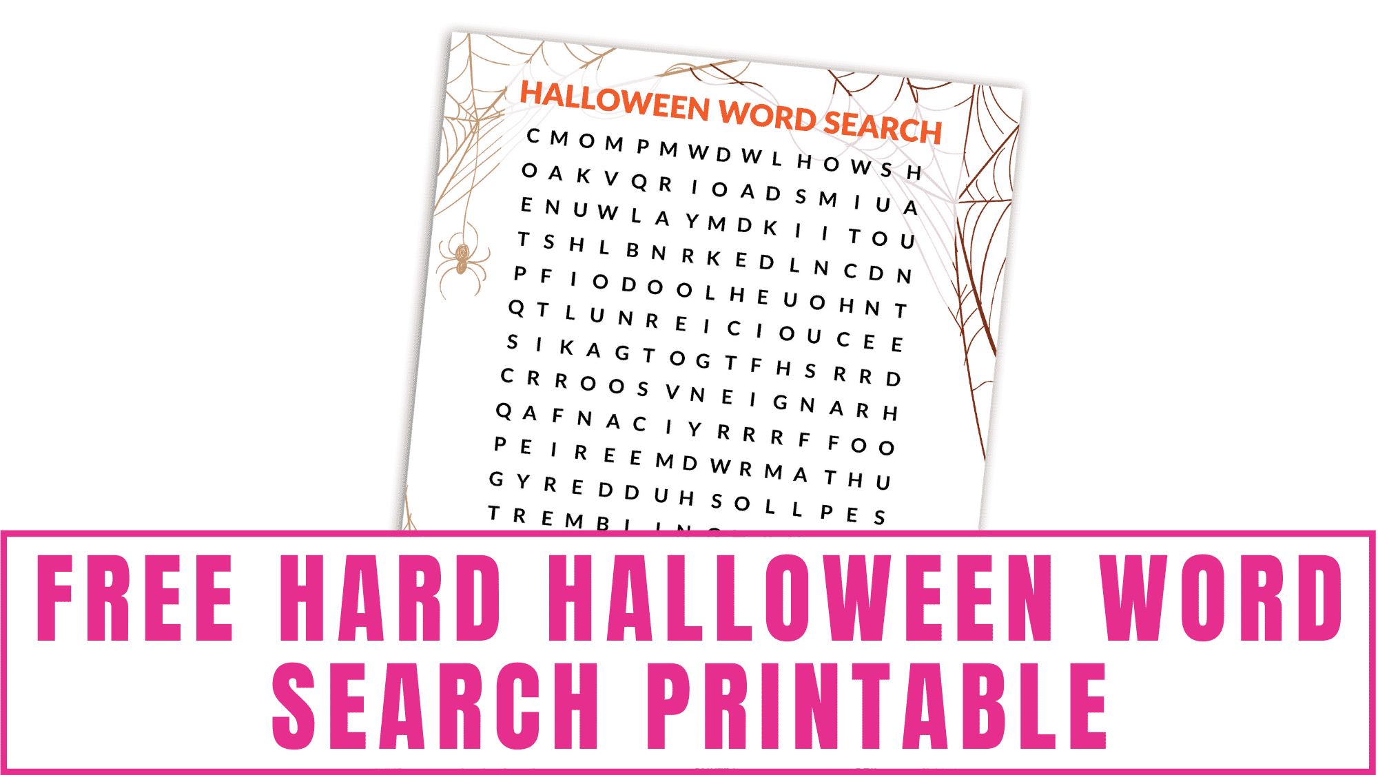 Looking for a more difficult Halloween activity? Give this free hard Halloween word search printable PDF download a try.