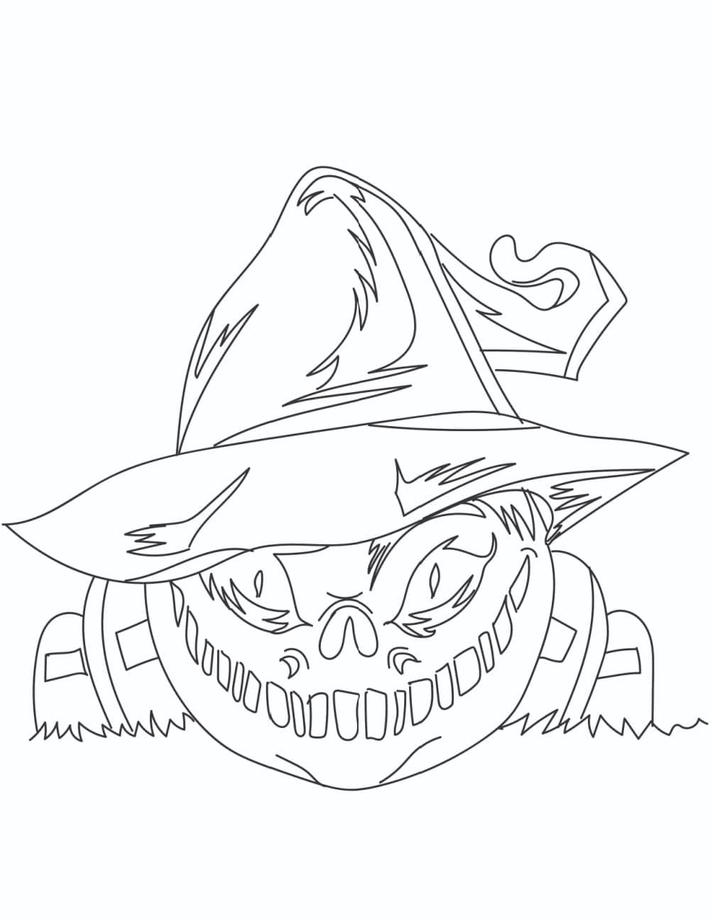 The graveyard ghoul haunting these free printable scary Halloween coloring pages is sure to have you double checking your doors and windows!