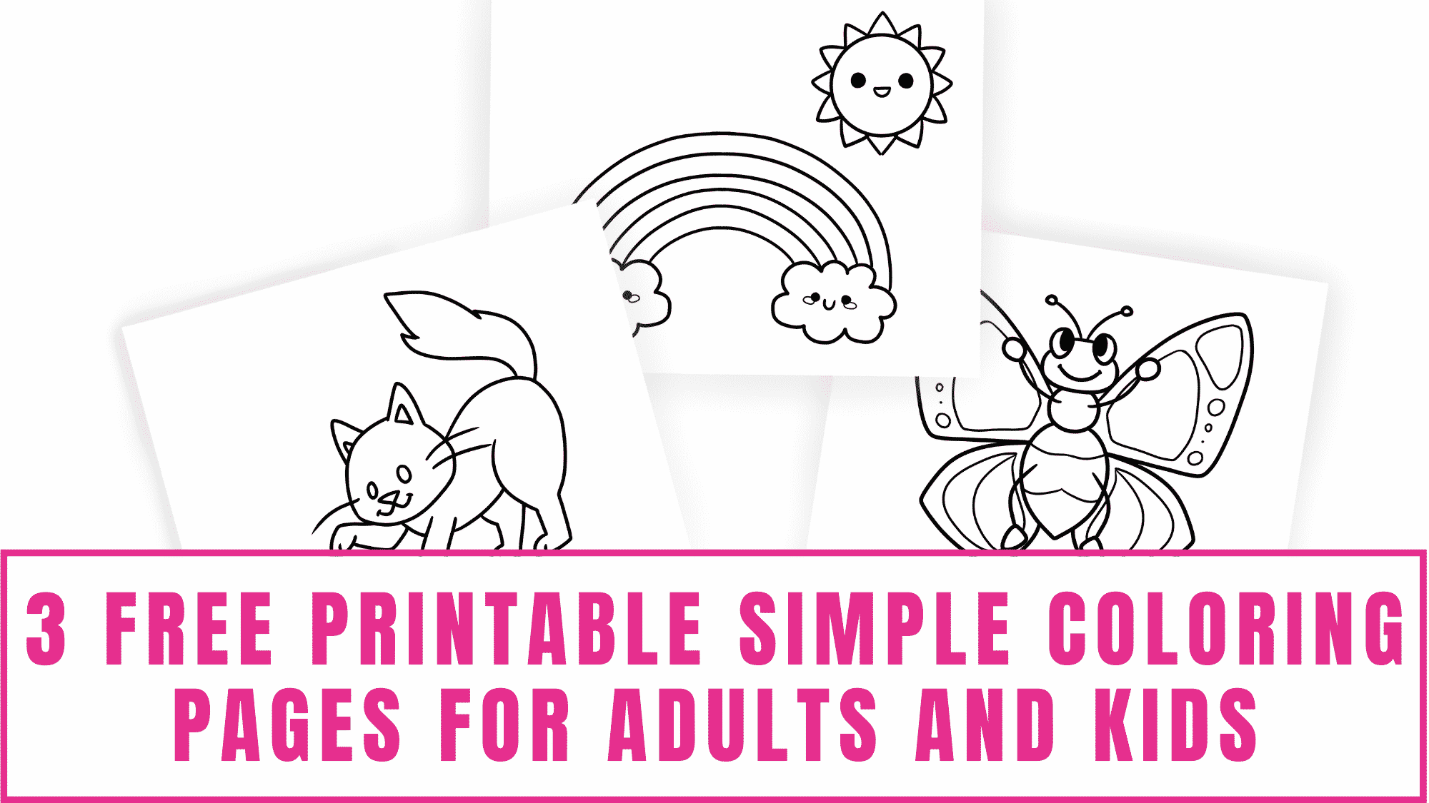 Are these printable fall coloring pages for adults too complicated for your kids? These free printable simple coloring pages for adults and kids may be more their speed.