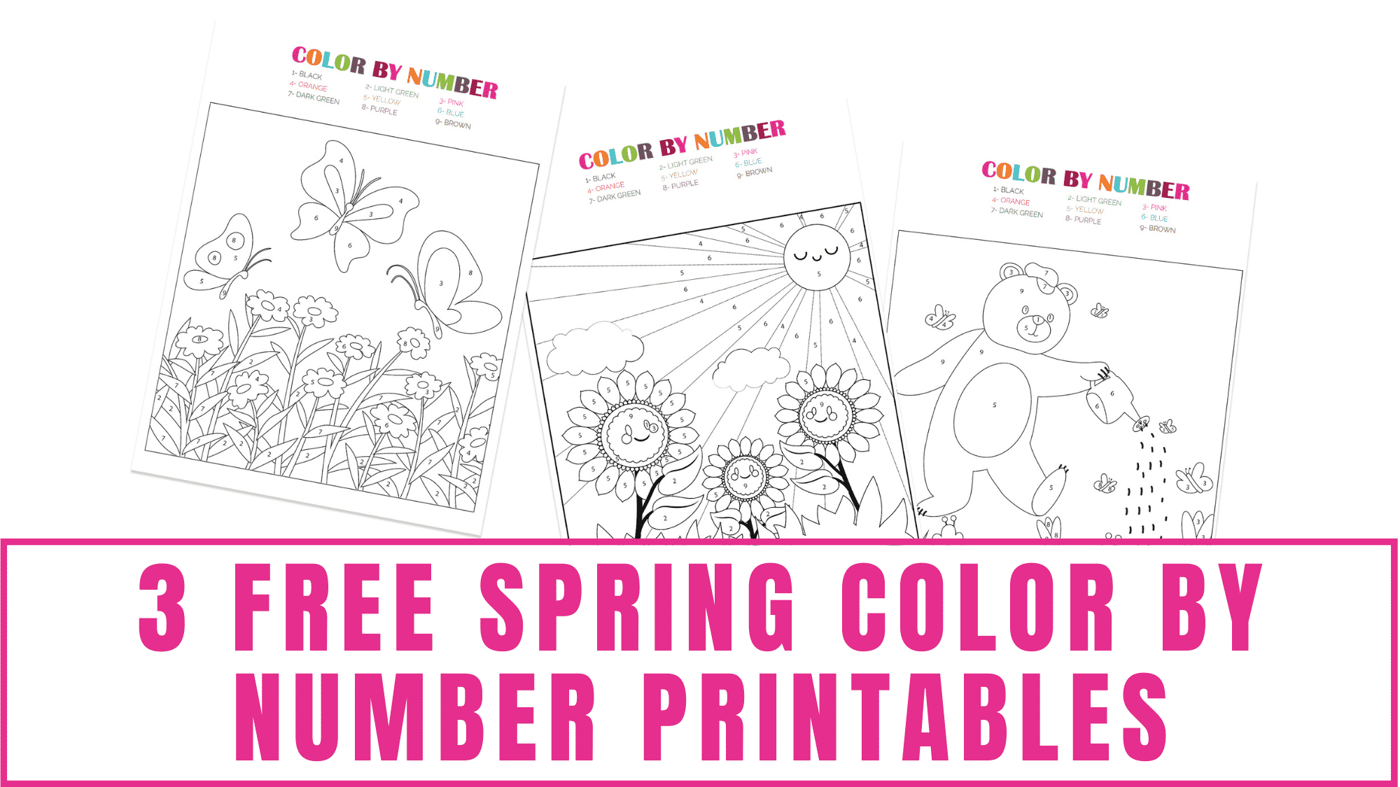 Did your kid complete the Halloween color by number printables and is looking for more color by number coloring pages? Download these free spring color by number printables for him/her.