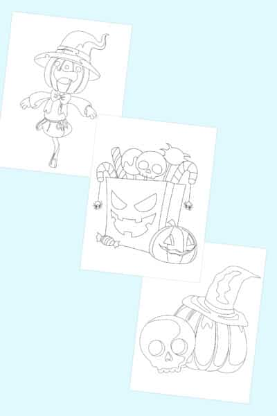 free printable easy Halloween coloring pages for kids