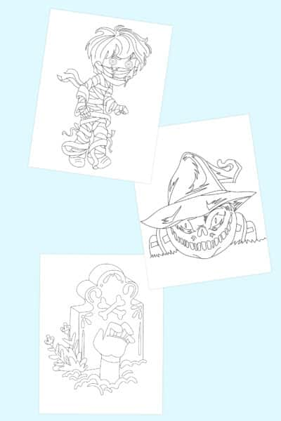free printable scary Halloween coloring pages