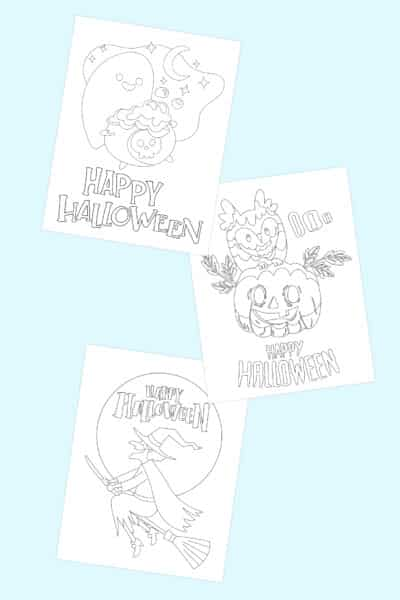 Happy Halloween coloring pages free printable downloads