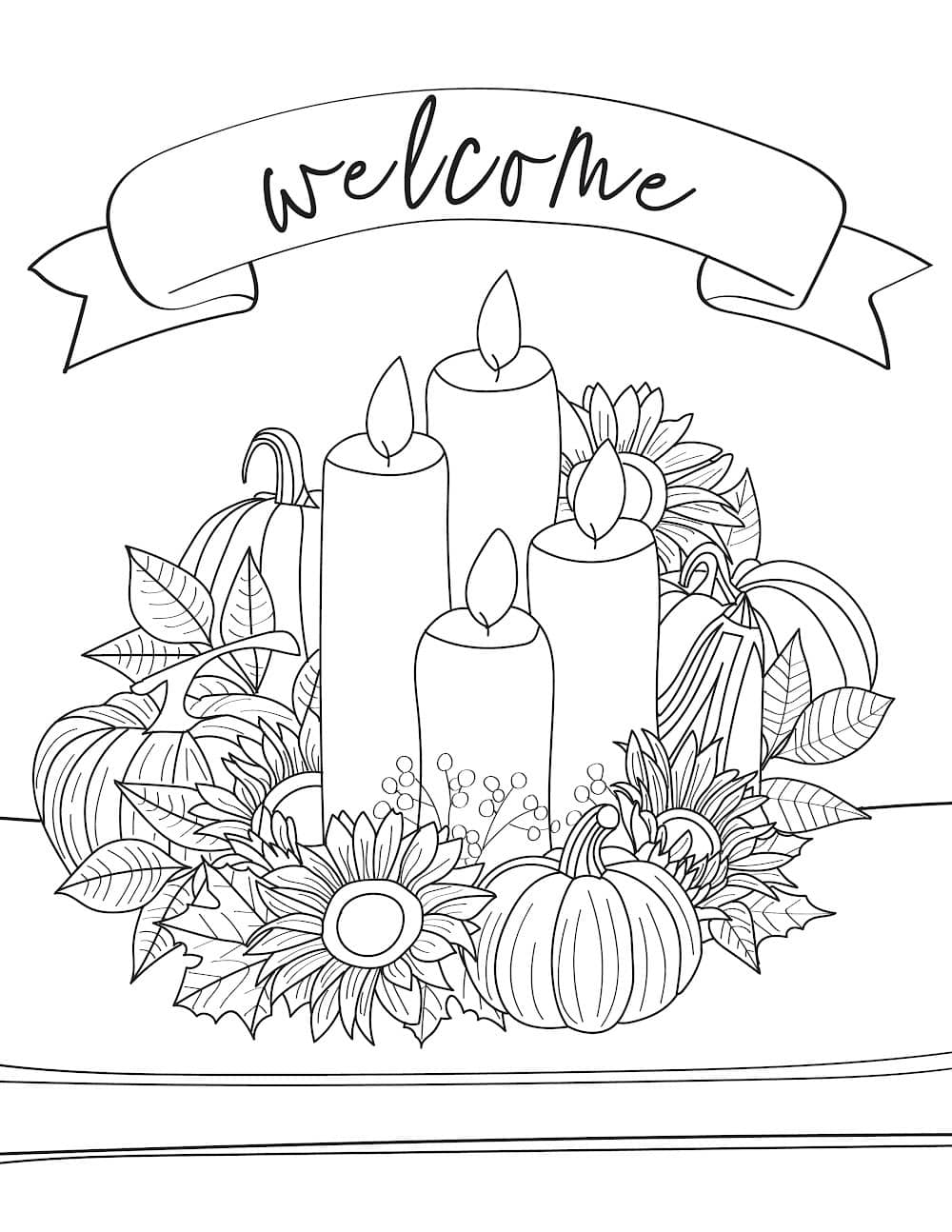 When decorated these frugal but not free fall coloring pages for adults will make beautiful DIY fall decorations.