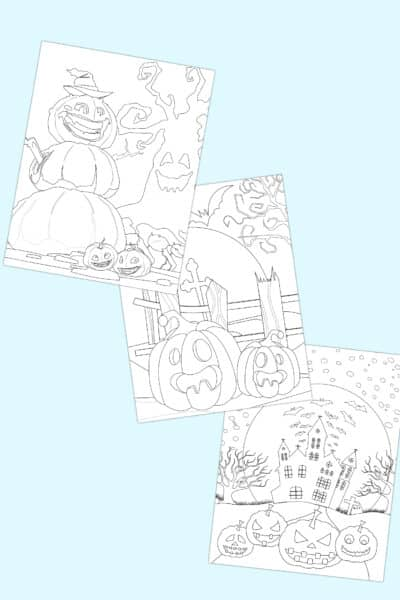 printable Halloween coloring pages for adults pdf downloads