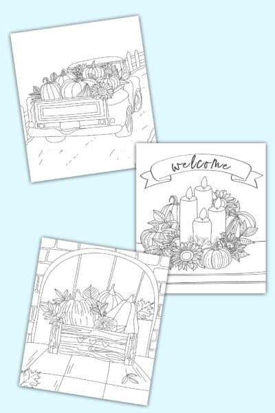 printable easy fall coloring pages for adults